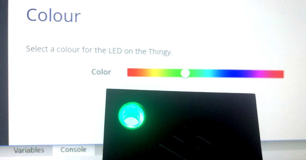 Changing an RGB LED from a Mendix app